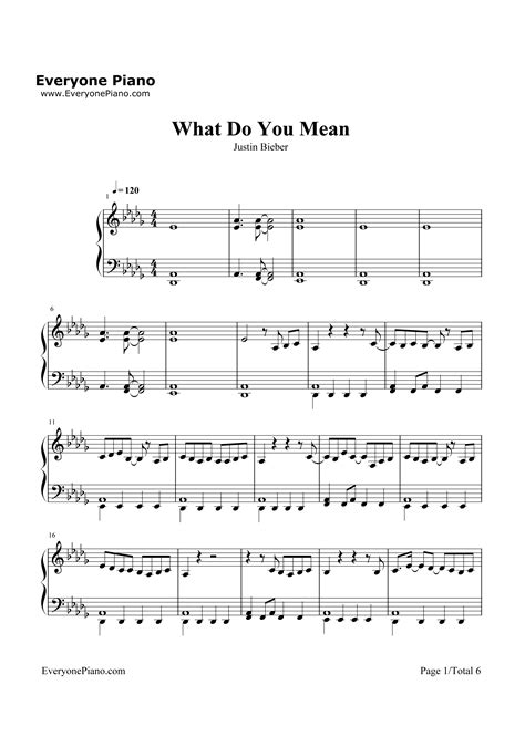 tutorial piano what do you mean what do you mean justin bieber stave preview 1 free piano