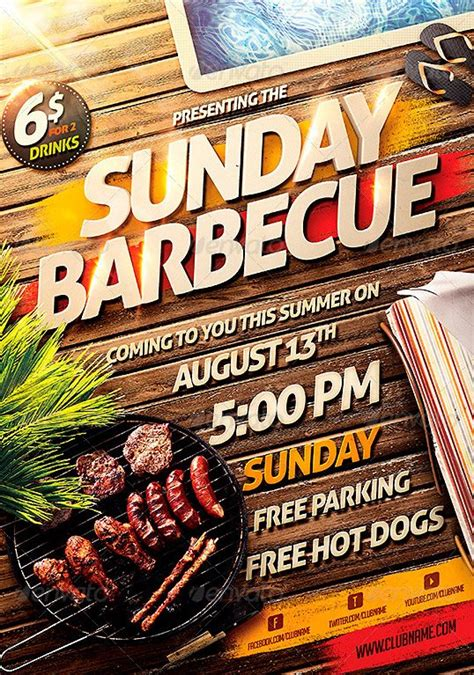 template bbq flyer best 10 bbq summer party flyer templates psd flyer for