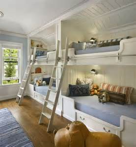 Angled Tray Ceiling With An Angled Tray Ceiling And Built In Bunk Beds