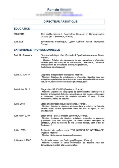 cv or resume in canada exemple modele cv eic canada