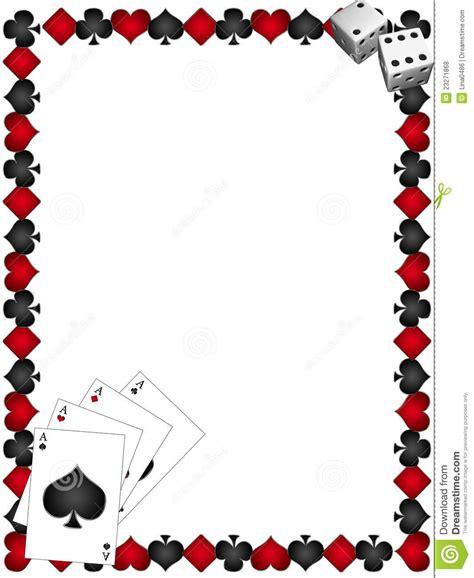 cadre card templates cartes de jeu avec le cadre illustration stock