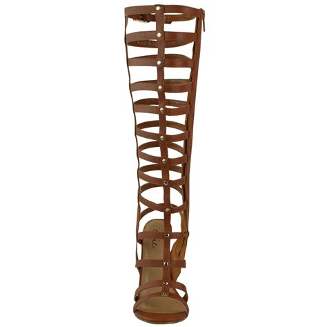 gladiator boot sandals womens knee high gladiator strappy sandals heel