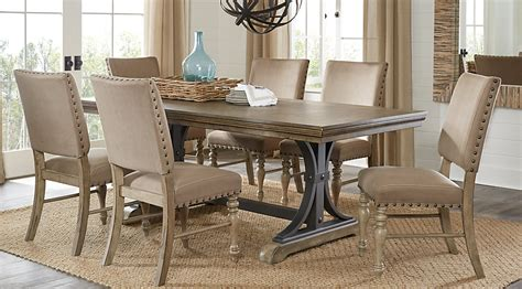 how to set a dining room table vista driftwood 7 pc rectangle dining set dining