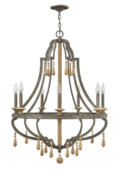 Fredrick Ramond Fr42287dir Cordoba Distressed Iron Distressed Chandeliers