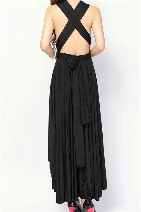 the dress black high low infinity bridesmaid dresses convertible