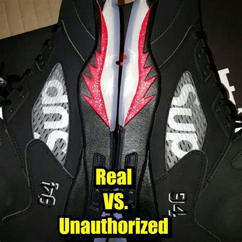 legit supreme resellers how to tell if your black supreme air 5s are real