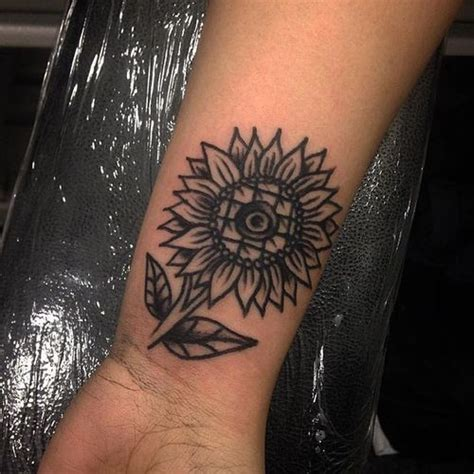 sunflower wrist tattoo sunflower tattoos designs ideas and meaning tattoos for you