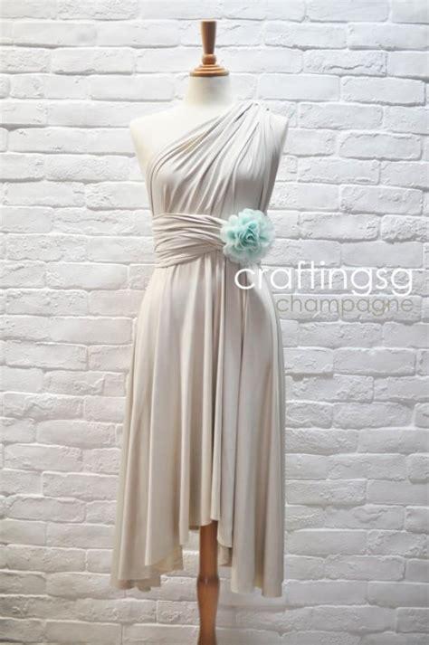 infinity dress teal wedding bridesmaid wrap convertible bridesmaid dress infinity dress chagne knee length wrap