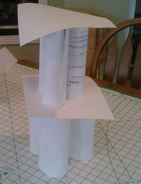 How To Make A Paper Tower - paper tower challenge 2 wyatt coffman cms7