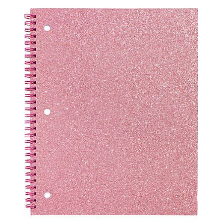 Glitter Notebook divoga glitter spiral notebook 8 12 x 10 12 wide ruled 160