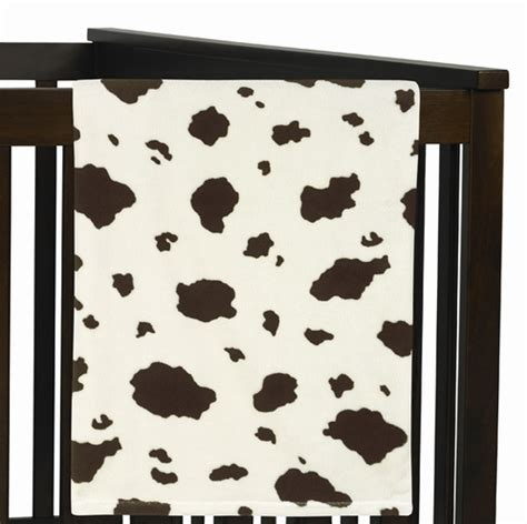 Cow Print Crib Bedding West Cow Print Plush Fleece Baby Receiving Blanket By Sweet Jojo Designs Only 19 99