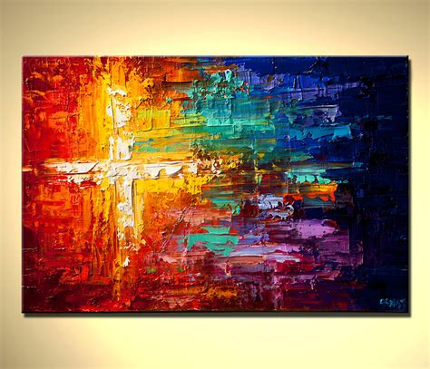 colorful painting original abstract painting contemporary colorful art textured