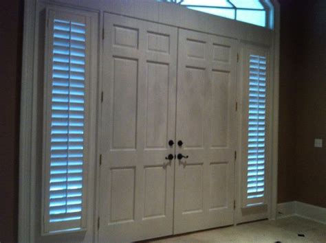 Sidelight Windows Photos Sidelights Door Wood Shutters Plantation Shutters Jacksonville Florida Mastercraft Shutters