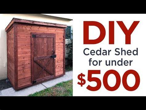 diy    cedar shed     easy diy projects