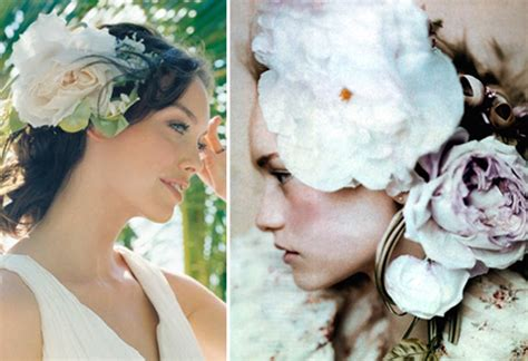Silk Flowers Hair Wedding by Accent Your Wedding Look With Silk Flower Hair