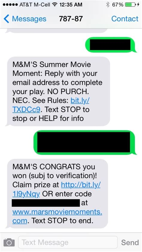 Text Instant Win Games - mars chocolate summer movie moments instantwin game