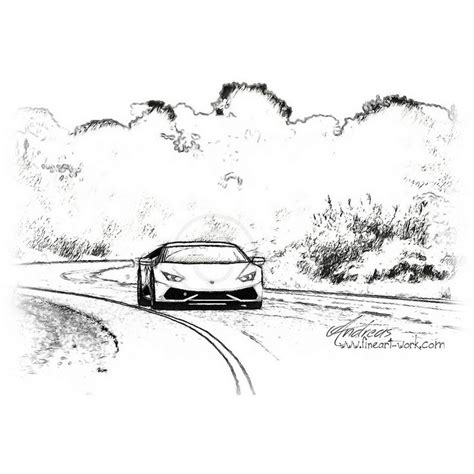 lamborghini huracan sketch 9 best images about car drawings on pinterest coloring