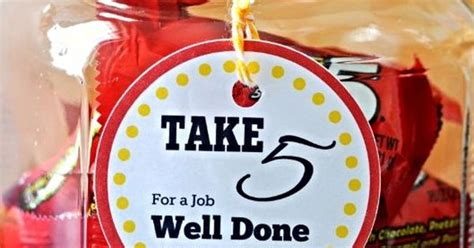 Thank You For A Well Done by Thank You Gift Take 5 Employee Gift Gift And