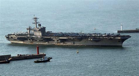 portaerei usa corea nord media gli usa inviano una terza portaerei