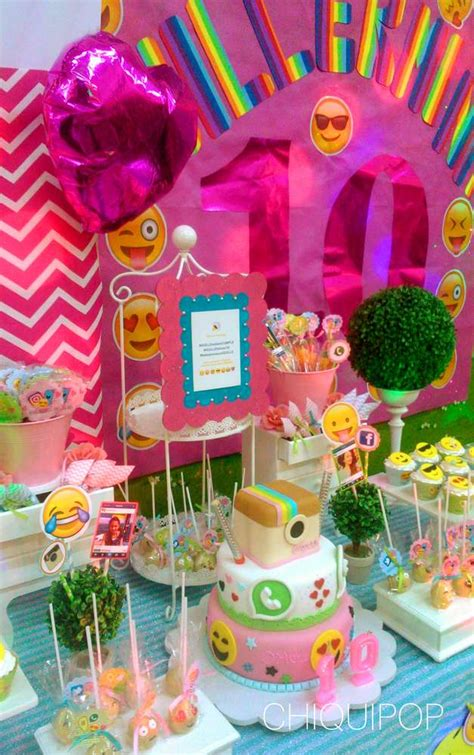 themes for 13th girl birthday parties insta face emoji birthday party ideas emoji birthdays
