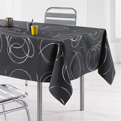 linge de table design nappe rectangulaire l240 cm bully anthracite nappe de