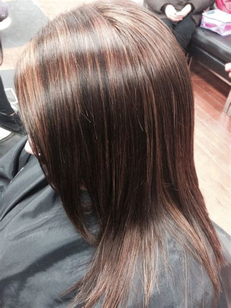 brunette hairstyles with copper highlights caramel and copper highlights brunette my hair