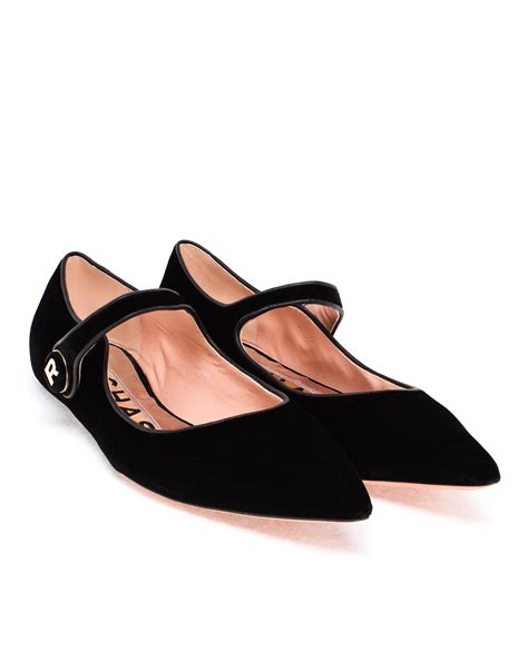 Flat Shoes Oe 17 rochas velvet flats in black lyst