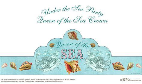 Free Printable Mermaid Crown | free printable under the sea mermaid party invitations
