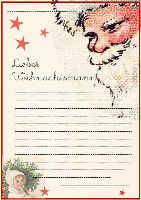 Brief Weihnachtsmann Schweiz Meinlilapark Free Printable Letter To Santa Claus Template For Children Wunschliste F 252 R
