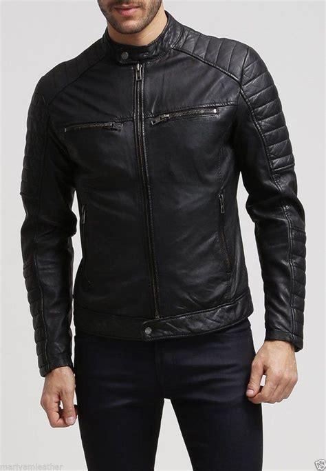 real leather motorcycle jackets biker jacket men real lambskin leather jacket km001