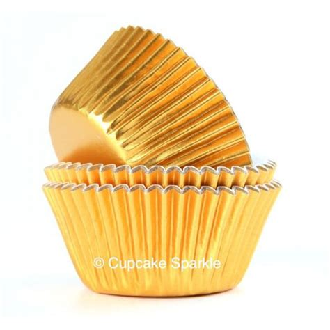 How To Make Cupcake Cases Out Of Baking Paper - gold foil cupcake cases gold cases baking cases