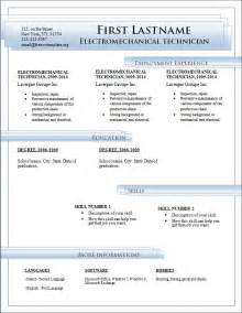 free downloadable resume templates for microsoft word free cv templates 184 to 190 freecvtemplate org