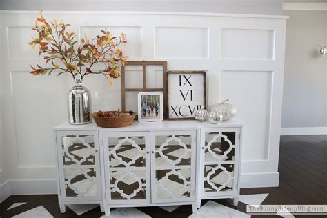 mirror console mirrored console table ready for fall the side
