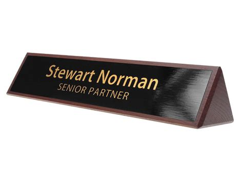 desk plates wooden desk name plates