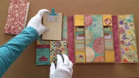 How To Make A Handmade Folder - my handmade vintage mini file folder album journaling book