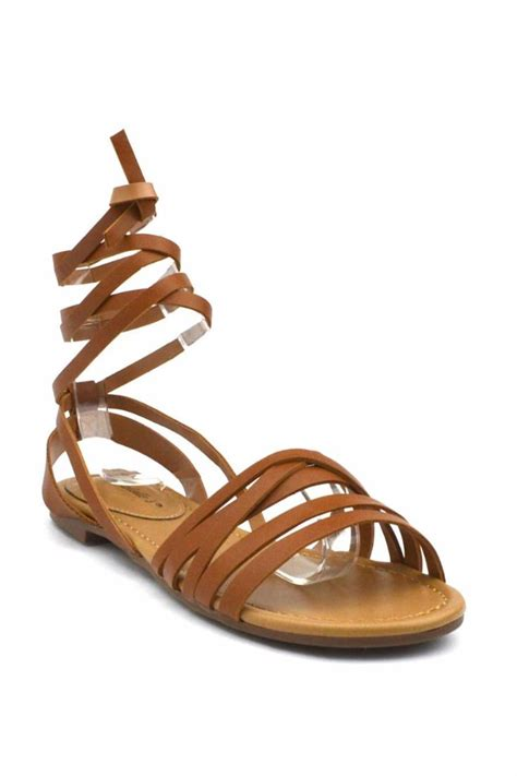 wrap sandals breckelle s leg wrap sandal from california by that s