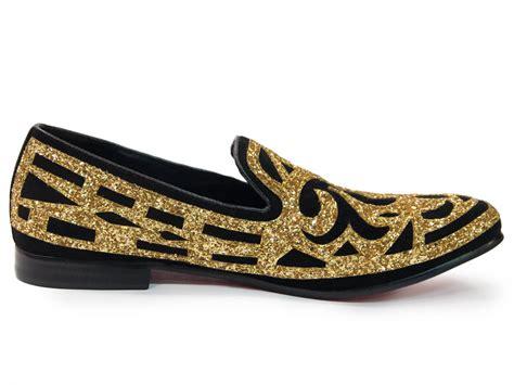fiesso mens gold black ornate glitter pattern dress