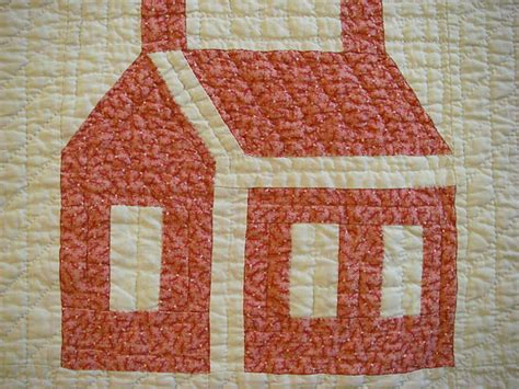 House Quilt Block by Repro Quilt Lover I House Quilts