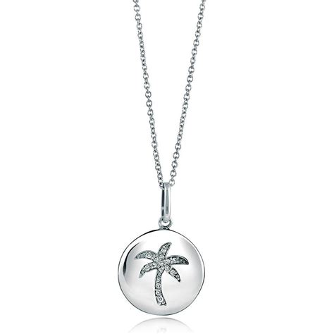 berricle sterling silver cz medallion palm tree fashion