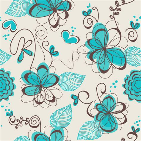 hand drawn flower pattern hand drawn flowers vector seamless pattern free vector in