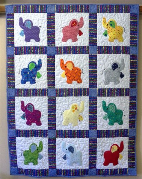 Handmade Quilt Sizes - 127 best elephants images on