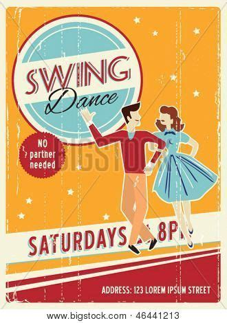 swing dance poster poster swing dancers party print design ideas