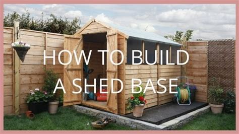 build  shed base blog garden buildings direct