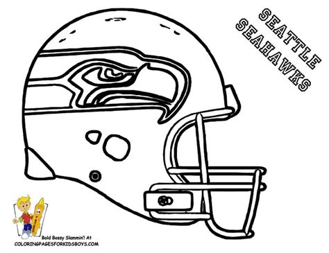 nfl football coloring pages online seattle nfl coloring pages football helmet coloring page