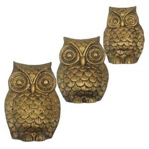golden owl ornamental wall decor