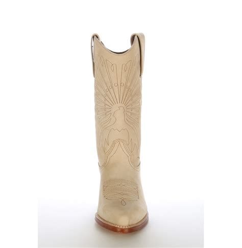 Handmade Mexican Boots - beige high quality leather mexican country boots