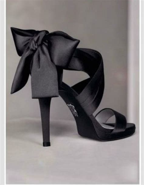 black high heels with a bow shoes black high heels bow high heels strappy black