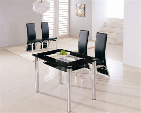 Small Glass Dining Table And 4 Chairs Rimini Glass Dining Table Rimini Glass Dining Table And Chairs