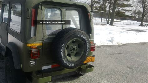 1988 jeep wrangler yj 6 cyl condition fair green od paint has top