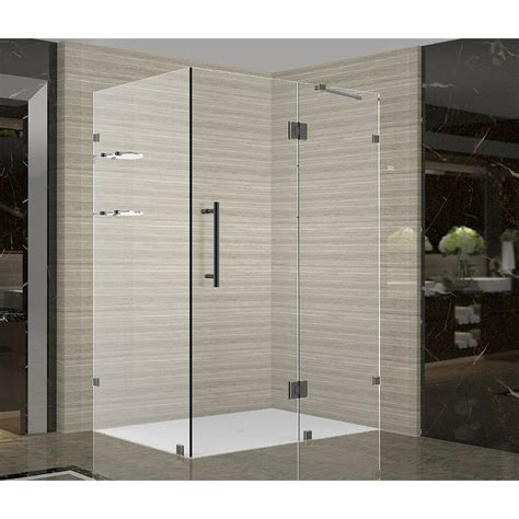 All Glass Shower Doors Enclosures Aston Avalux Gs 38 In X 36 In X 72 In Completely Frameless Shower Enclosure With Glass